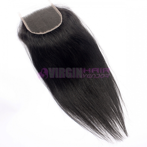 brazilian  hair natural straight cheap human hair lace closure