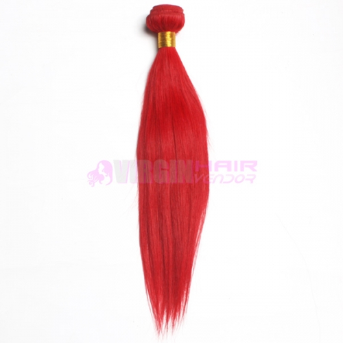 Brazilian Virgin Hair Straight color #red Brazilian Hair Weave