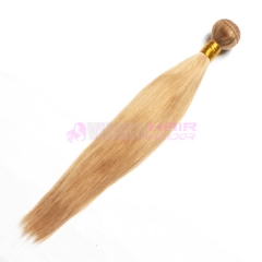 Peruvian Virgin Hair Straight color Human Hair #27 Hair Weaves