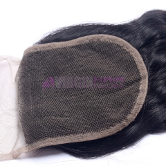 Super Quality virgin Brazilian hair lace closure natural black color