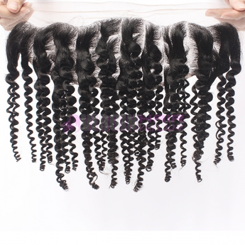 Virginhairvendor 13*4 lace frontals 100% human hair kinky curl natural black color