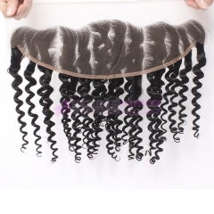 Virginhairvendor 13*4 lace frontal closure baby hair natural color