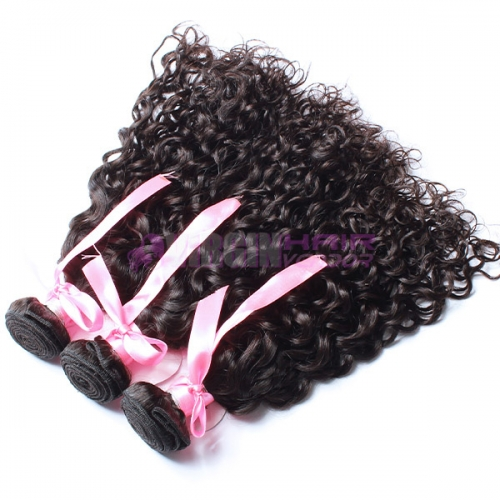 Top grade  hot sales 100% italian curl virgin Brazilian hair weave