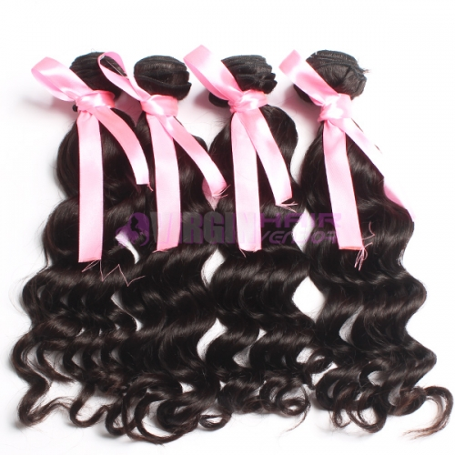 Good quality  Popular Malaysian human hair weave  loose curl hair extension