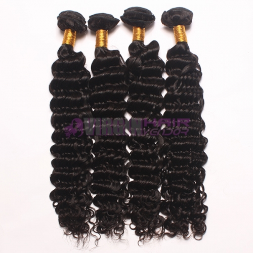 Super grade no chemical processed deep wave virgin Malaysian hair