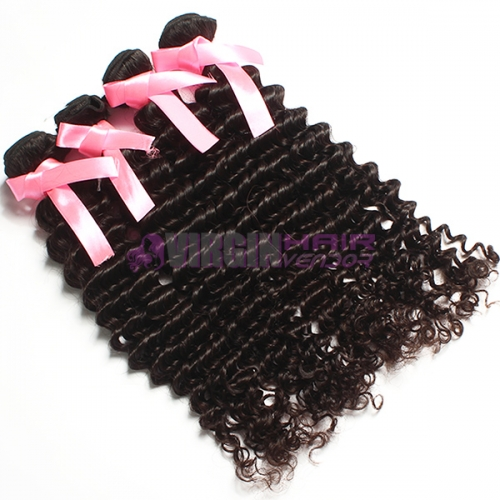 Unprocessed natural curly brazilian remy human hair wholesale