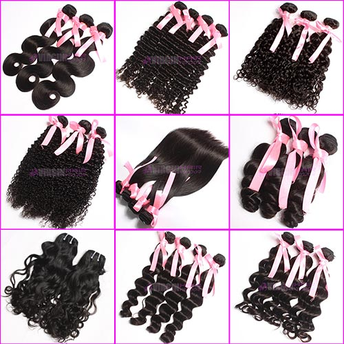 Top grade wholesale Cheap Virgin human hair different styles on selling with factory price