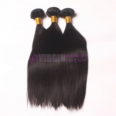 Super grade 100 human hair on donnor natural straight virgin Malaysian hair extension