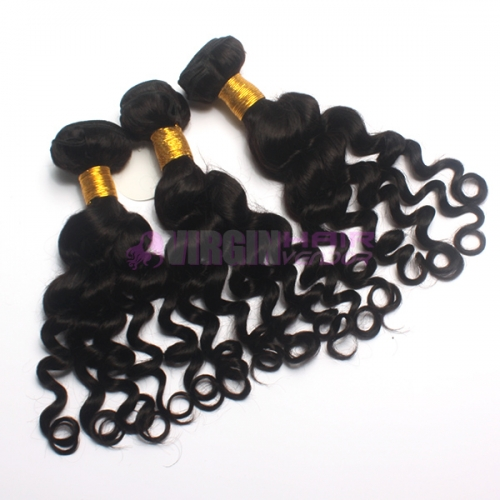 Virgin Hair Vendor short hair brazilian loose curly hair extension