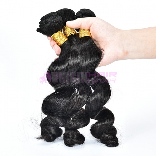 Black women buy Brazilian human hair weave from china loose wave