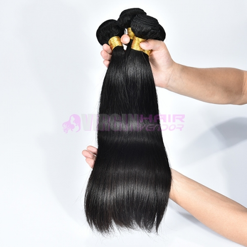 Fashion 100% Malaysian human hair extension natural straight