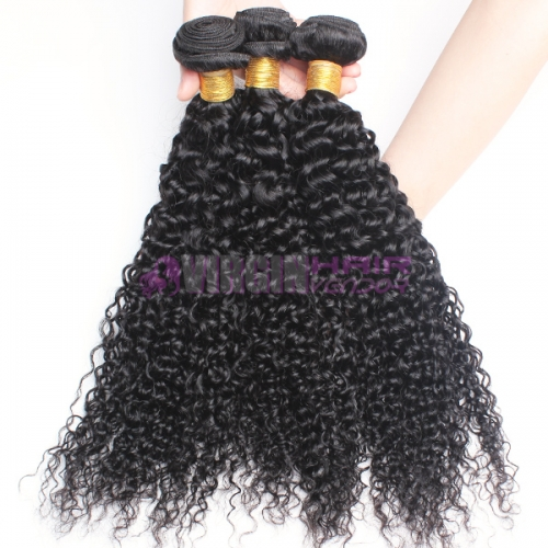 Normal grade 100% Human Hair Deep wave Black color