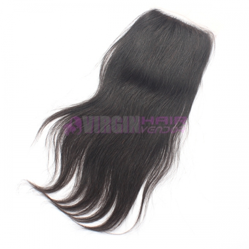8-18 Inch Good Grade 4x4 inch Silk Base Lace Closure Straight Free part & Middle part three part