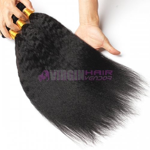 Normal grade 100% Human Hair Kinky straight Black color