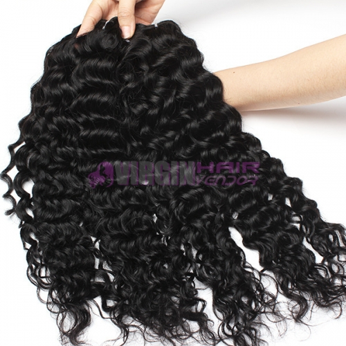 Normal grade 100% Human Hair  Water Wave Black color