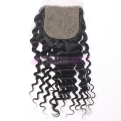 8-18 Inch Good grade  4x4 inch Silk Base Lace Closure Curl Free part & Middle part three part