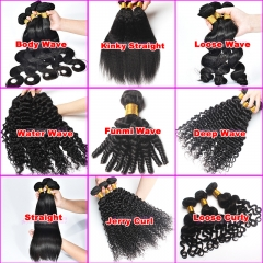 Normal grade 100% human hair weft top rated hair different textures on sell with cheap price