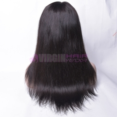 360 wig straight Top Sale 100% human hair natural color