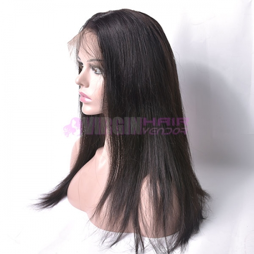 natural straight,150% destiny 100% Human Hair  Lace Frontal Wig straight 12-22inch natural color
