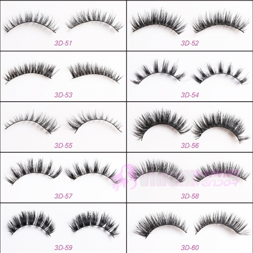 NO.51-60 Create your own lash brand Cheapest price new design 3D mink eyelashes