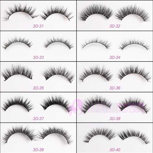 NO.31-40 High Quality Own Brand Private Label 100% Real Mink Lashes 3d Mink eyelashes