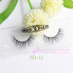 NO.41-50 Fashionable 3D Style Siberian Mink Fur Hair Natural Wispy Faux False Eyelashes