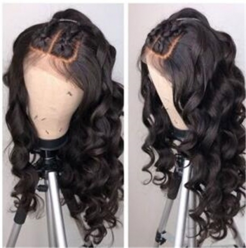 loose wave,150% destiny 100% Human Hair  Lace Frontal Wig loose wave 12-22inch natural color