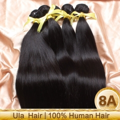 【8A 3PCS】Ula Hair 3 Bundles lot Malaysian Virgin Hair Straight Smooth Virgin Hair 8A Grade Top Quality Malaysian Human Hair