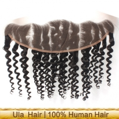 Ula Hair Deep Wave Lace Frontal Closure Human Hair 13x4 Lace Frontal Closure