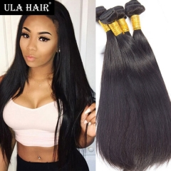 Ula Hair 6A Brazilian Human Hair Straight 3bundles On Sale hair extensions Free Shipping