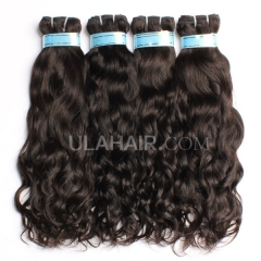Ula Hair 3 Bundles Peruvian Virgin Hair 13A Mixed Length Human Hair Natural Wave Peruvian Remy Hair Extensions Free Shipping