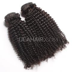 Ula Hair 7A Kinky Curly Human Hair Top Quality Malaysian Virgin Hair Extensions Malaysian Kinky Curly Virgin Hair 3Bundles/lot