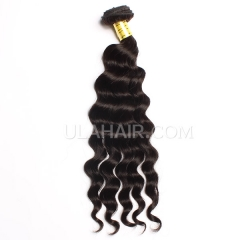 Ula Hair Products 7A 100% Human Hair Wavy Unprocessed Malaysian More Wave Virgin Hair Retail 1pc Hair