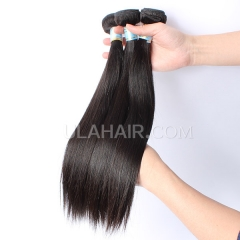Ula Hair 7A 3pcs High Quality Peruvian Hair Straight 100% Unprocessed Peruvian Virgin Hair Smooth Human Peruvian Hair Extensions