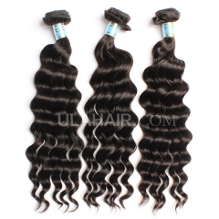 Ula Hair 13A Grade Peruvian Virgin Hair Loose Curly Peruvian Wavy Hair 3Bundles/lot 100% Unprocessed Peruvian Human hair