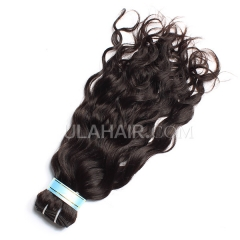 Ula Hair 13A Peruvian Virgin Hair Natural Wave 1Pc Unprocessed Natural Black Color No Shedding Human Peruvian Hair