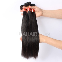 Ula Hair 7A Brazilian Straight Hair 3bundles/lot High Quality Brazilian Virgin Hair Extensions 100% Human Hair