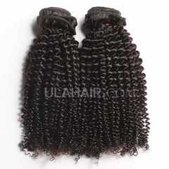 Ula Hair 7A Grade Brazilian Virgin Hair Kinky Curly 3Bundles/Lot Brazilian hair Curly Kinky Curly Hair Extension