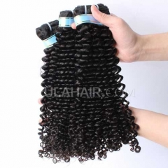 Ula Hair 7A Grade Brazilian Virgin Hair Deep Curly 3Bundles/Lot Brazilian hair Curly Deep Hair Extension