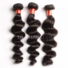 Ula Hair Brazilian Loose Wave Virgin Hair 7A Grade Hair Extensions 3Bundles/Lot Brazilian Loose Wavy Human Hair