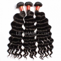 Ula Hair 7A Brazilian Virgin Hair Wavy Unprocessed Hair Brazilian More Wave Human Hair 3Bundles/Lot Free Shipping