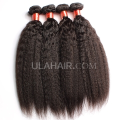 Ula Hair 7A Grade Brazilian Virgin Hair Kinky straight 3Bundles/Lot Brazilian hair Curly Kinky straight Hair Extension