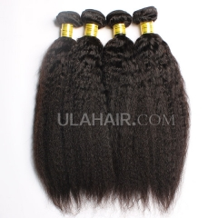 Ula Hair 7A Grade Malaysian Virgin Hair Kinky straight 3Bundles/Lot Malaysian hair Curly Kinky straight Hair Extension