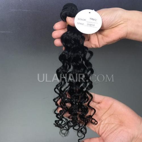 14a Virgin Hair Deep Wave Hair Style Human Hair Extension Hot Beauty Hair Weave Sample 1pc