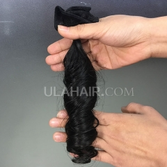 14A  Virgin Hair Loose Wave Hair Style Human Hair extension hot beauty hair weave Sample 1Pc