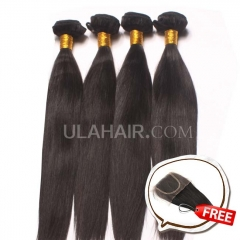 Ula Hair Buy 4 Get 1 free 4 Bundles Set 13A Malaysian Virgin Hair Straight Smooth Virgin Hair Get 1 Lace Clousure Free Shipping