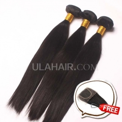 Promotion! Buy 3 Get 1 free 3 Bundles Set 13A Malaysian Virgin Hair Straight Smooth Virgin Human Hair Free Shipping
