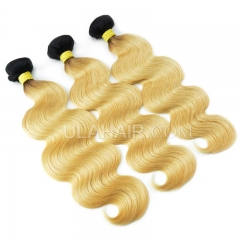 Ula Hair 13A 3 bundle deal T1B/#613 Russian body wave blonde hair extension Free Shipping