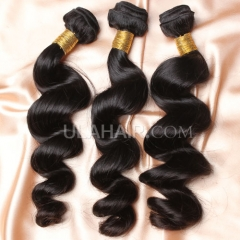 【14A 3PCS】 3 Bundles Deal Brazilian Virgin Hair Loose Wave Wavy