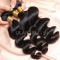 【8A 3PCS】Ula Hair New 8A 3 Bundles Deal Malaysian Virgin Hair Loose Wave 100% Human Hair